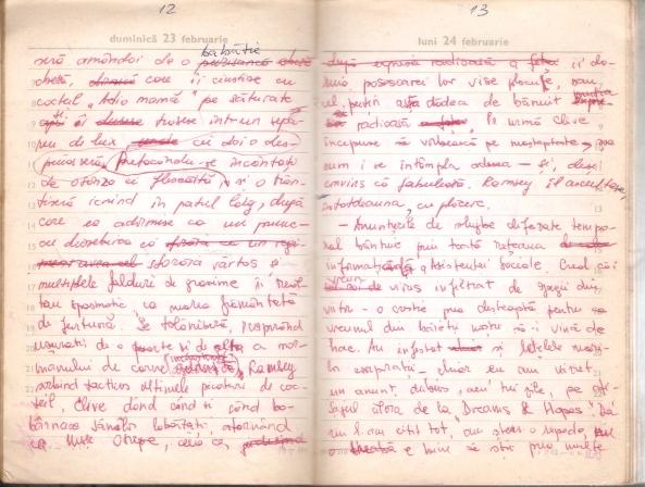 pagini de manuscris